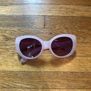 BETSEY JOHNSON fun pink polka dot sunglasses
